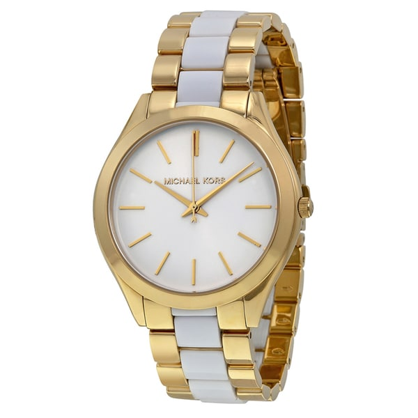 Michael Kors Women's MK4295 'Slim Runway' Two tone Stainless Steel Watch