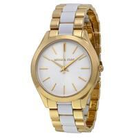 Michael Kors Women's MK4295 'Slim Runway' Two tone Stainless Steel Watch