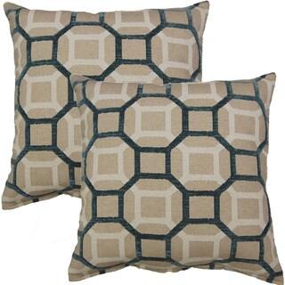 Mandi Teal 19-inch Throw Pillow (Set of 2)
