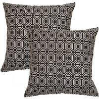 Bradstreet Ebony 17-inch Throw Pillow (Set of 2)