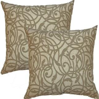 Olina Stone 17-inch Throw Pillow (Set of 2)