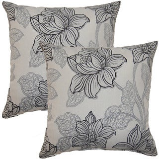 Quesera Grey 17-inch Throw Pillow (Set of 2)
