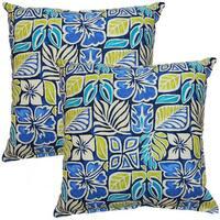 Sun Blocks Blue 17-inch Throw Pillow (Set of 2)