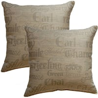 Teaparty Linen 17-inch Throw Pillow (Set of 2)