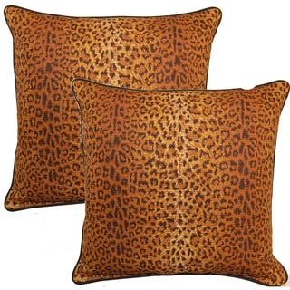 Cheetah Sienna 17-inch Throw Pillow (Set of 2)
