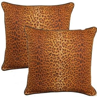 Cheetah Sienna 17-inch Throw Pillow (Set of 2)