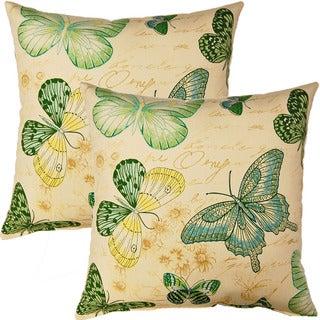 Papillon Capri 17-inch Throw Pillow (Set of 2)