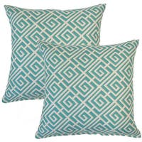 Quadrotto Caribbean 17-inch Throw Pillow (Set of 2)