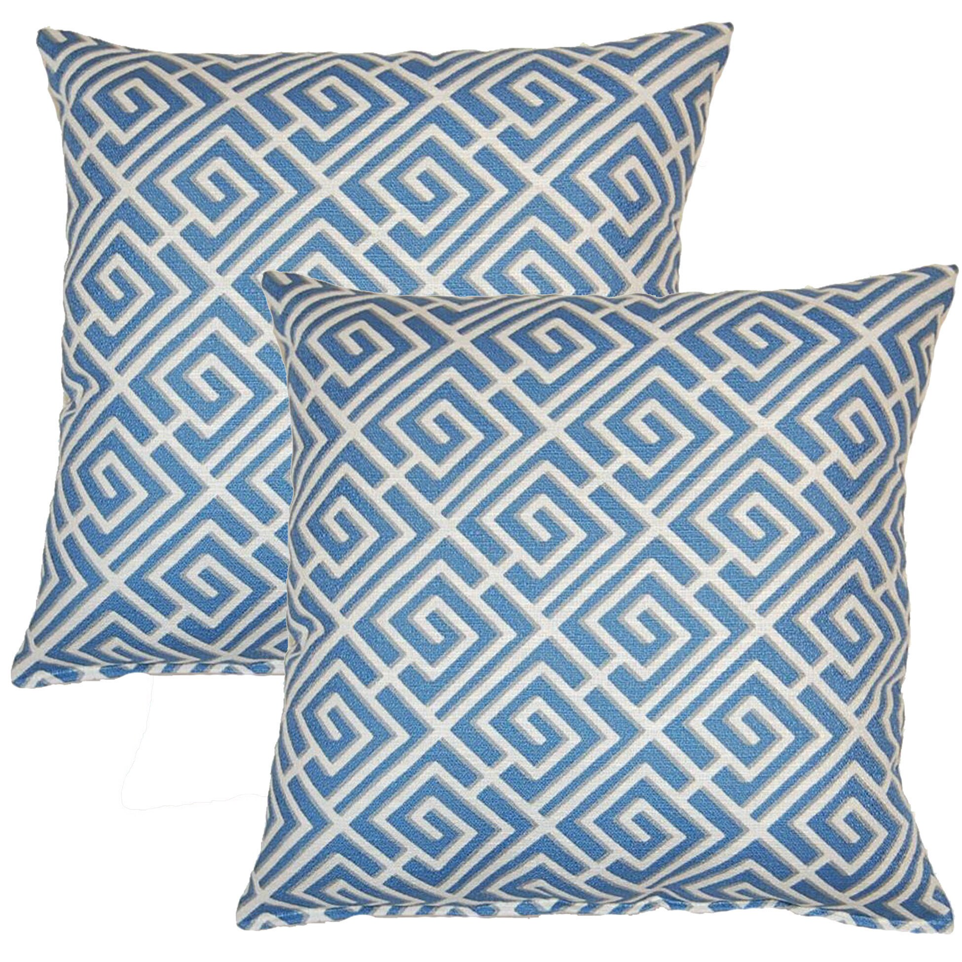 Quadrotto Slate 17-inch Throw Pillow (Set of 2) (Throw Pillow)