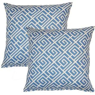 Quadrotto Slate 17-inch Throw Pillow (Set of 2)