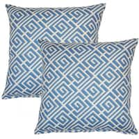 Quadrotto Slate 17-inch Throw Pillow (Set of 2)