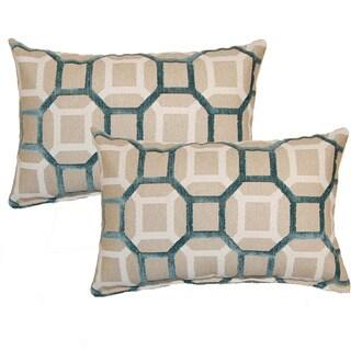 Mandi Teal Decorative Throw Pillow (Set of 2)
