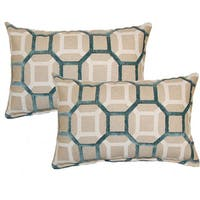 Mandi Teal Decorative Throw Pillow (Set of 2)