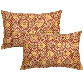 Sun Swirl Nutmeg Decorative Throw Pillow (Set of 2)