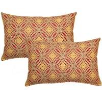 Sun Swirl Nutmeg Decorative Throw Pillow (Set of 2)
