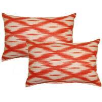 Tizia Poppy Decorative Throw Pillow (Set of 2)