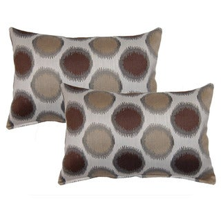 Circa Brown Decorative Throw Pillow (Set of 2)
