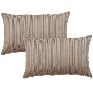 Dutton Taupe Decorative Throw Pillow (Set of 2)