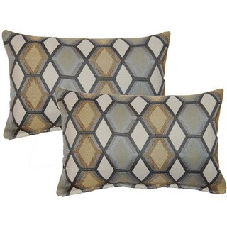 Geo Paramount Grey Decorative Throw Pillow (Set of 2)