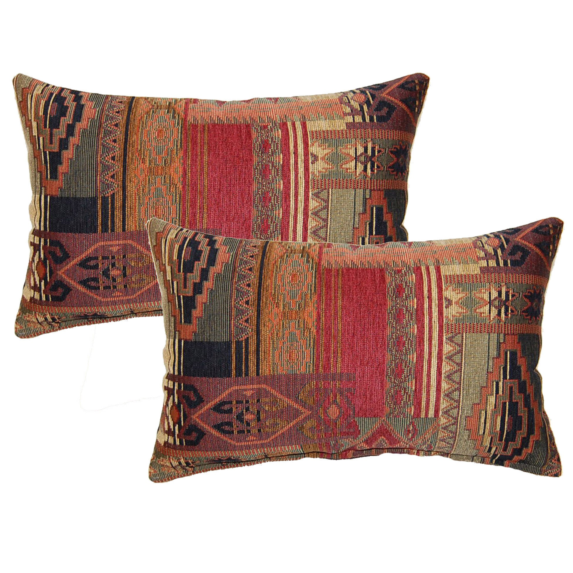 Red Geometric Throw Pillows