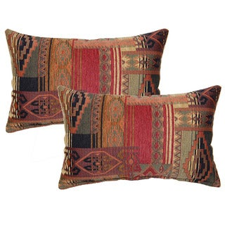 sedona canyon decorative throw pillow set of 2 - Red Decorative Pillows