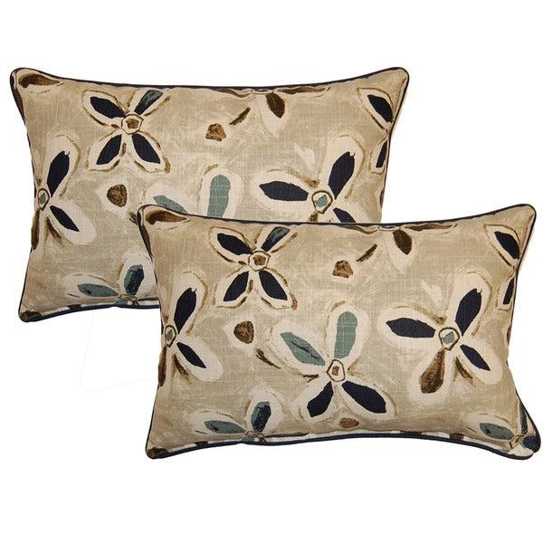 Alhambra Teal Decorative Throw Pillow (Set of 2) - Brown