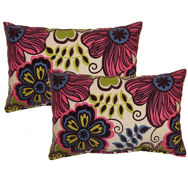 Clementine Fuchsia Decorative Throw Pillow (Set of 2)