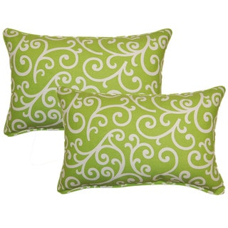 Dazzle Lime Decorative Throw Pillow (Set of 2)