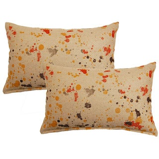 Dropcloth Tangerine Decorative Throw Pillow (Set of 2)