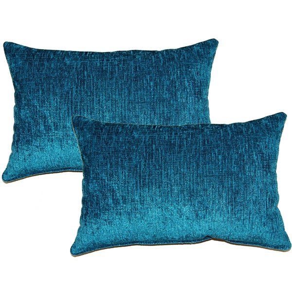 eaton teal decorative throw pillow set of 2