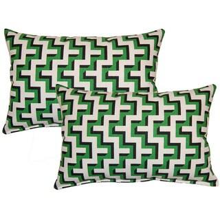 Jigsaw Malachite Decorative Throw Pillow (Set of 2)