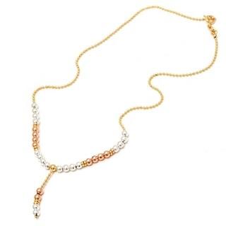 Peermont Jewelry Women's 18k Goldplated Three Tone Ball Necklace