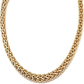 Peermont Jewelry 18k Goldplated Gold Popcorn Mesh Necklace