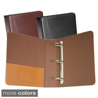 Royce Leather 3-ring 'D' Ring Binder (Option: Black)
