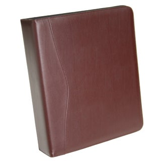 Royce Leather 3-ring 'D' Ring Binder (Option: Burgundy)