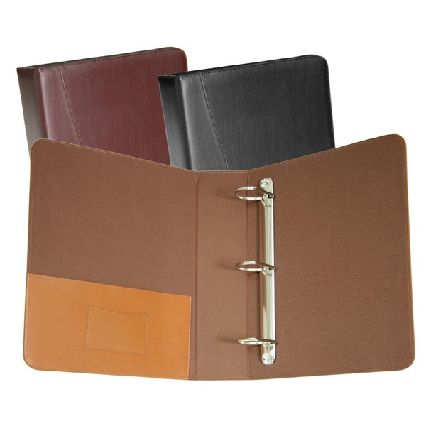 Royce Leather 3-ring 'D' Ring Binder. Opens flyout.