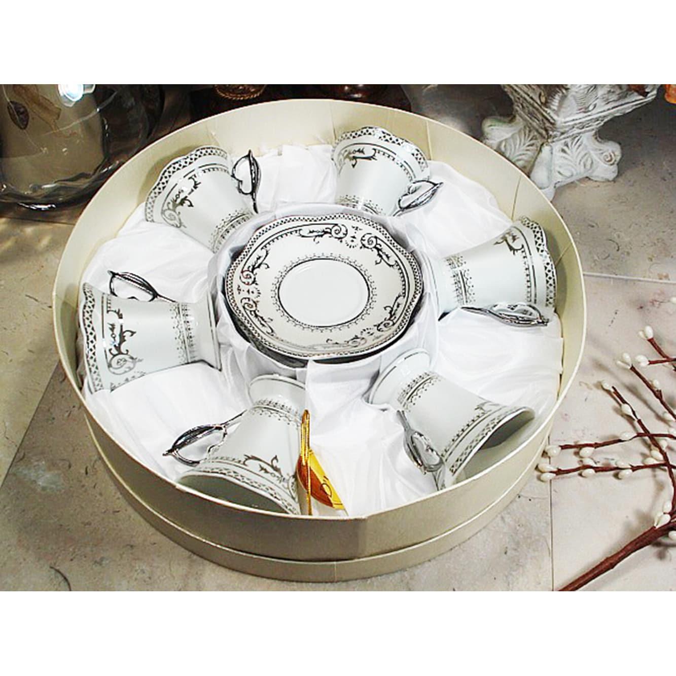 Lusso D'Lusso Designs Silver Deco Design Twelve Piece Esp...