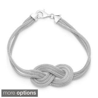 Sterling Silver Mesh Knot Bracelet