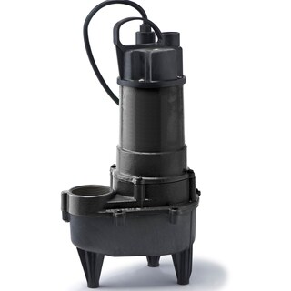 RSE50M ECO-FLO Products 1/2 HP Manual Switch Submersible Cast Iron Sewage Pump