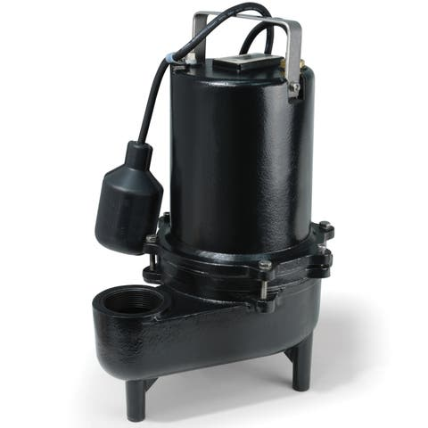 ESE60W ECO-FLO Products .6 HP Submersible Cast Iron Sewage Pump - Wide Angle Switch