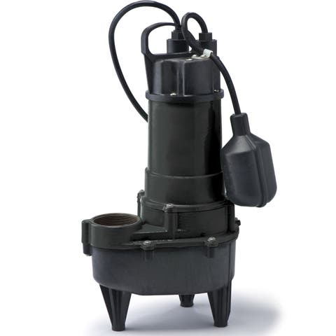 RSE50W ECO-FLO Products 1/2 HP Wide Angle Switch Submersible Cast Iron Sewage Pump