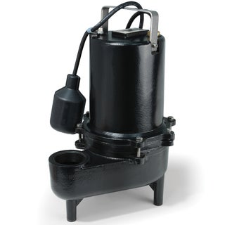 ESE50W ECO-FLO Products 1/2 HP Submersible Cast Iron Sewage Pump - Wide Angle Switch