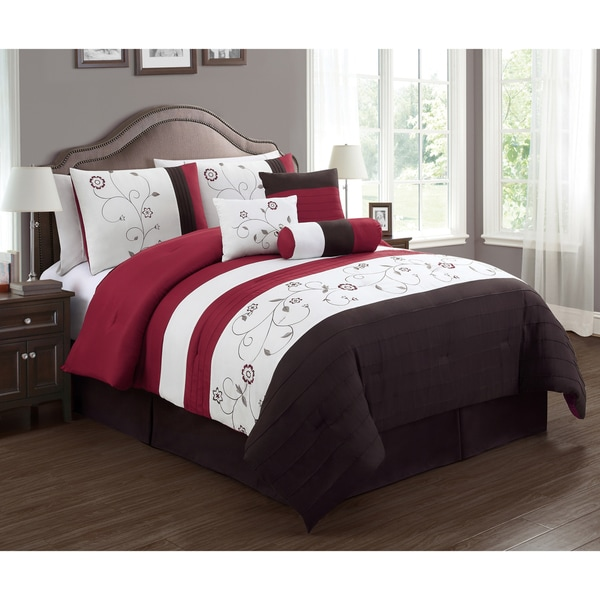 Journee Collection Mallorca 7-piece Embroidered Comforter Set