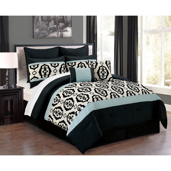 Journee Collection Basque 8-piece Embroidered Comforter Set