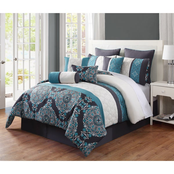 Journee Collection Avila 10-piece Medallion Comforter Set