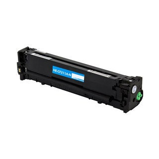 HP CF211A Compatible Toner Cartridge (Cyan) - Black