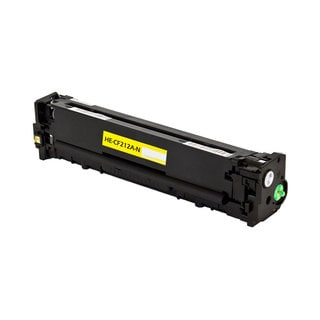 HP CF212A Compatible Toner Cartridge (Yellow) - Black
