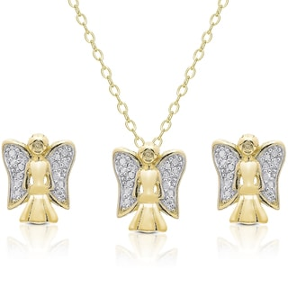 Diamond Accent Holiday Angel Jewelry Set