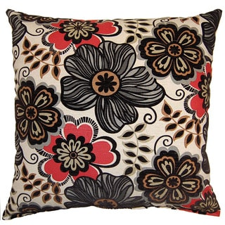 Clementine Ebony 26-inch Throw Pillow