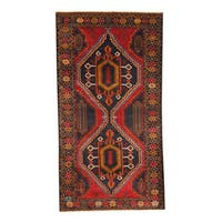 Herat Oriental Afghan Hand-knotted 1960s Semi-antique Tribal Balouchi Wool Rug - 3'7 x 6'10